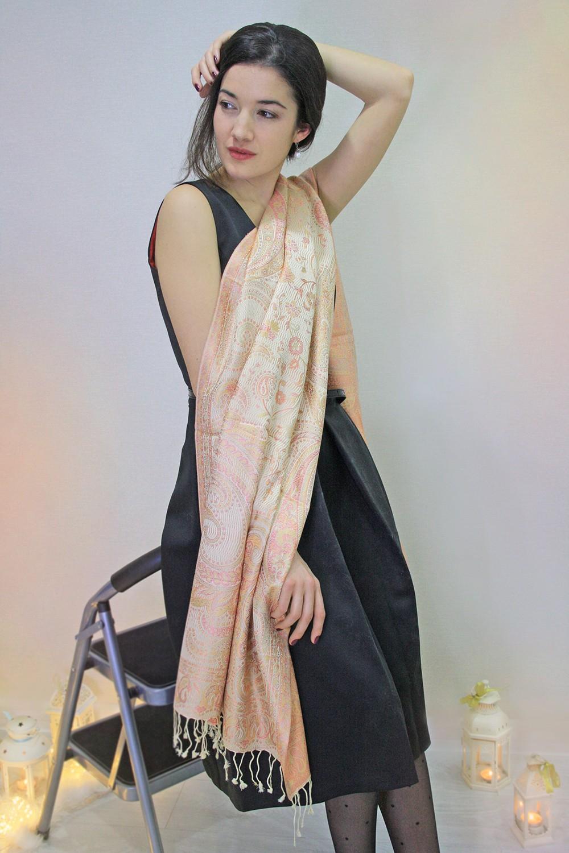 Шелковый индийские палантин